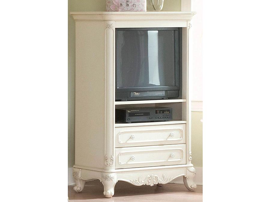 Beau Cinderella White TV Armoire