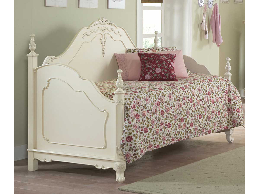 Cinderella White Daybed W Link Spring
