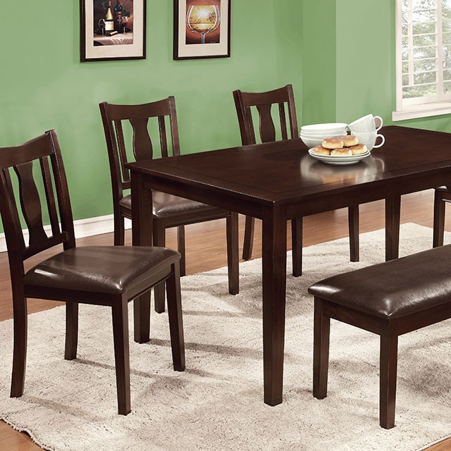 Northvale I 6Pcs Transitional Espresso Dining Table Set & Northvale I 6Pcs Transitional Espresso Dining Table Set - Shop for ...