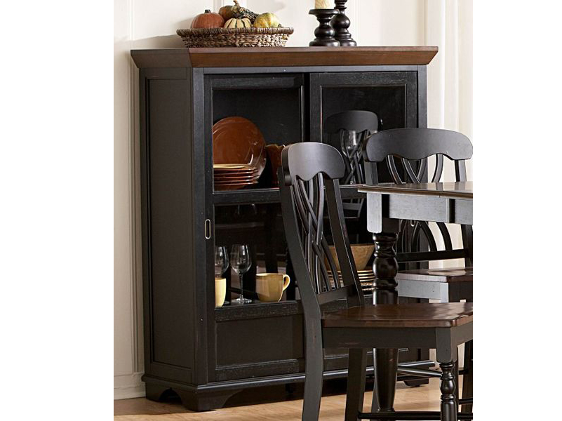 antique cabinet furniture curio corner cabinets finish miller glass oak black sale small display white