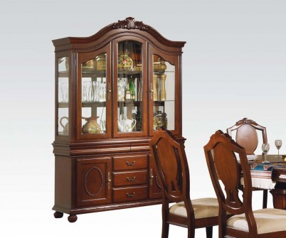 Classique Cherry Buffet With Hutch China Cabinet
