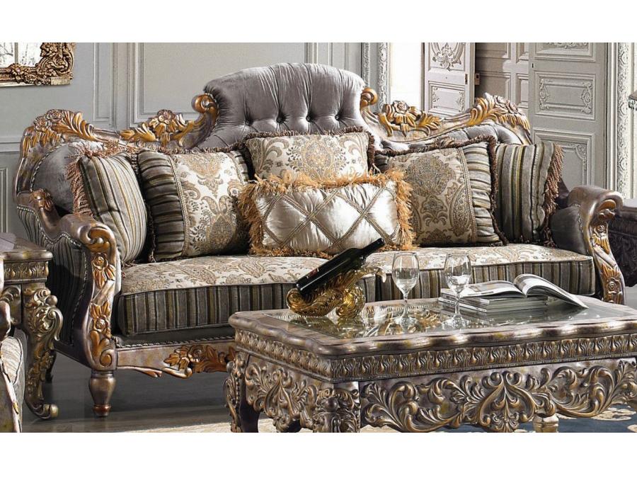 Silver Fabric Sofa