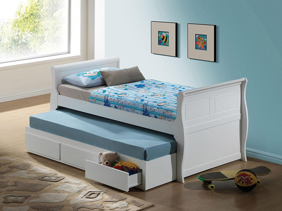 Nebo White Twin Captain Bed Shop For Affordable Home Furniture Decor Outdoors And More