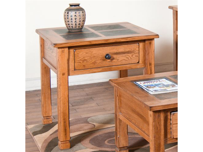 End Table W/Slate Top