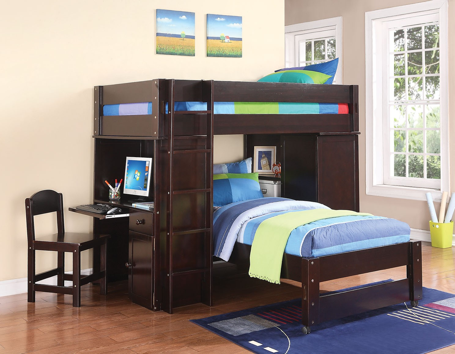 Lars Wenge Twin Loft Bed
