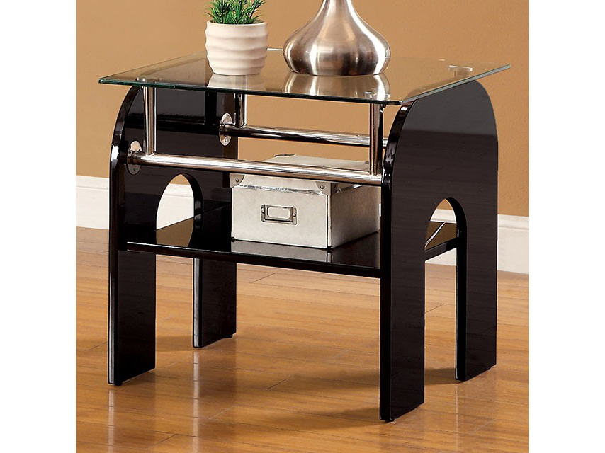 Sansa End Table With Curved Table Legs ...