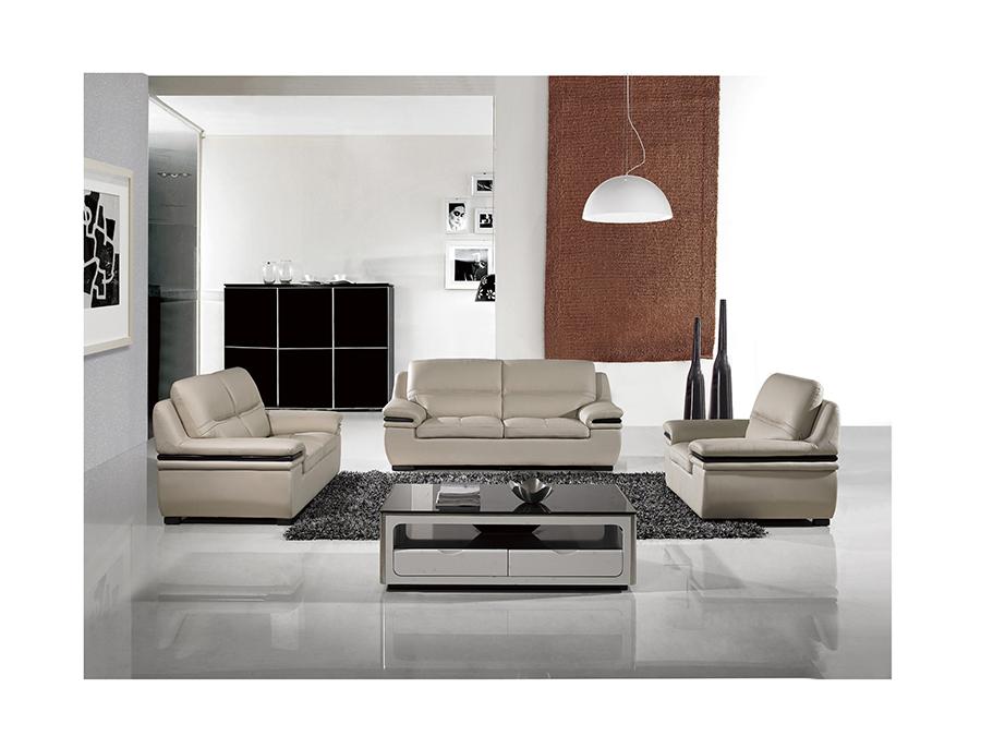 Incredible Modern 3Pcs Light Gray Genuine Leather Sofa Set Bralicious Painted Fabric Chair Ideas Braliciousco