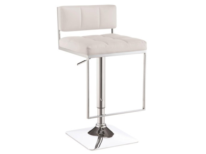 Contemporary Style White Adjust Bar Stool Shop For Affordable Home