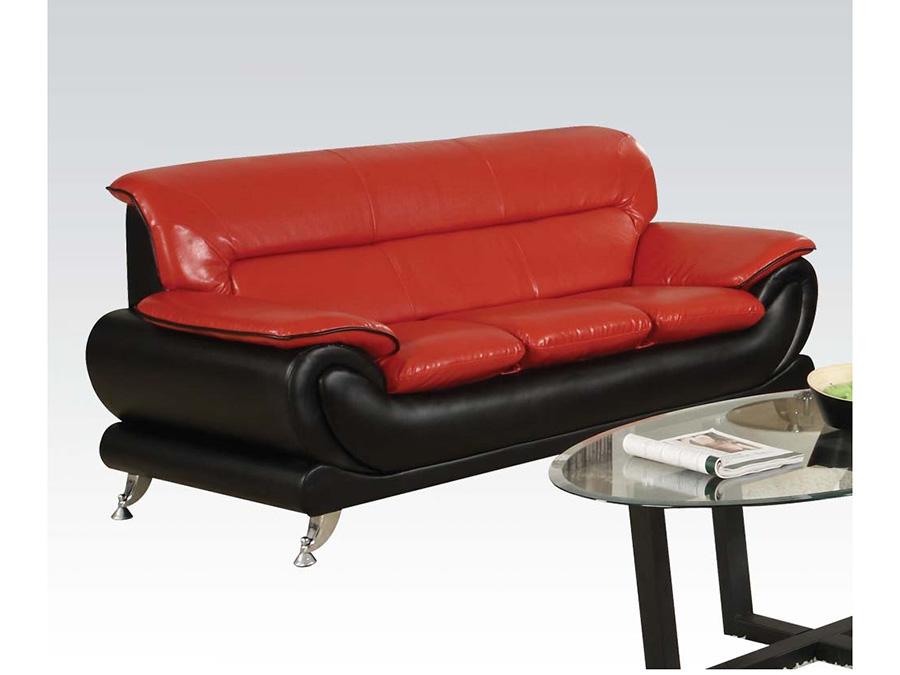 Orel Black Red Sofa - Shop for Affordable Home Furniture, Decor ...