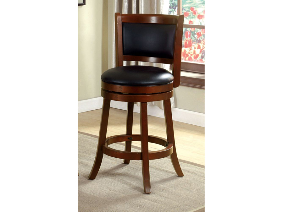 Letcher Dark Cherry 24 Inch Swivel Bar Stool Shop For Affordable