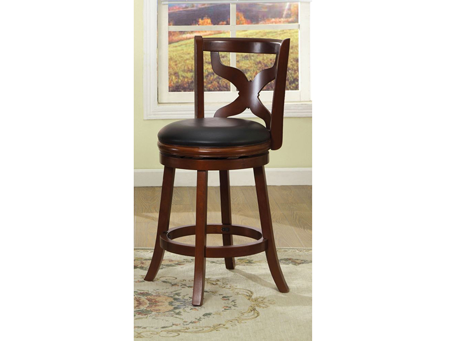 Baltic Dark Cherry 24 Inch Swivel Bar Stool Shop For Affordable