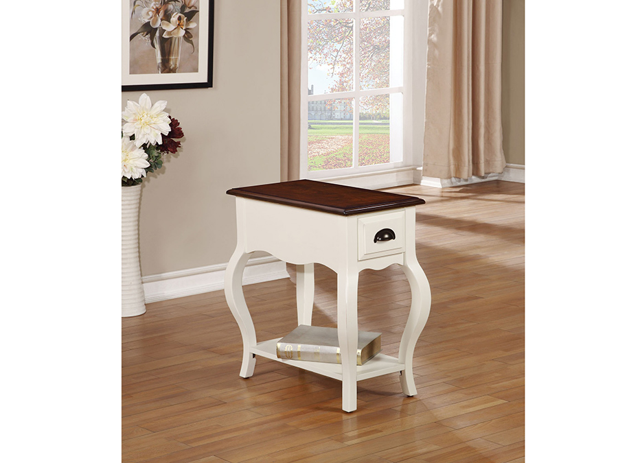 Woaton Antique White Side Table With Drawer Shelf Shop For
