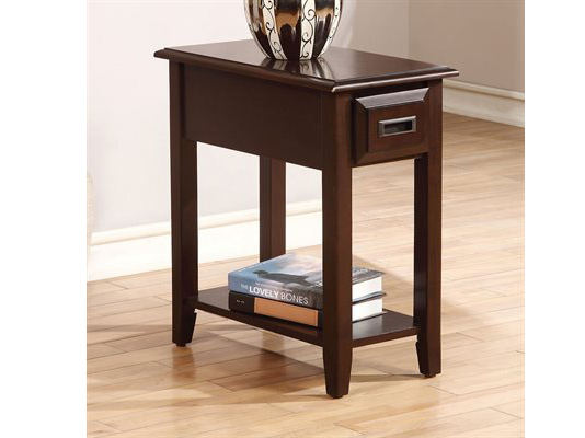 Flin Dark Cherry Side Table