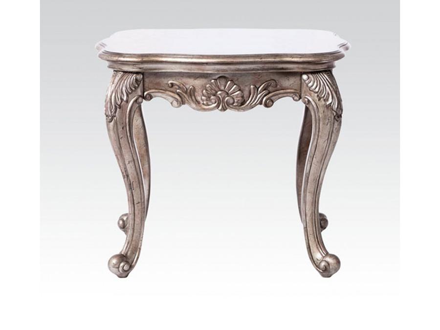 Bon Chantelle Antique Platinum End Table Granite Top