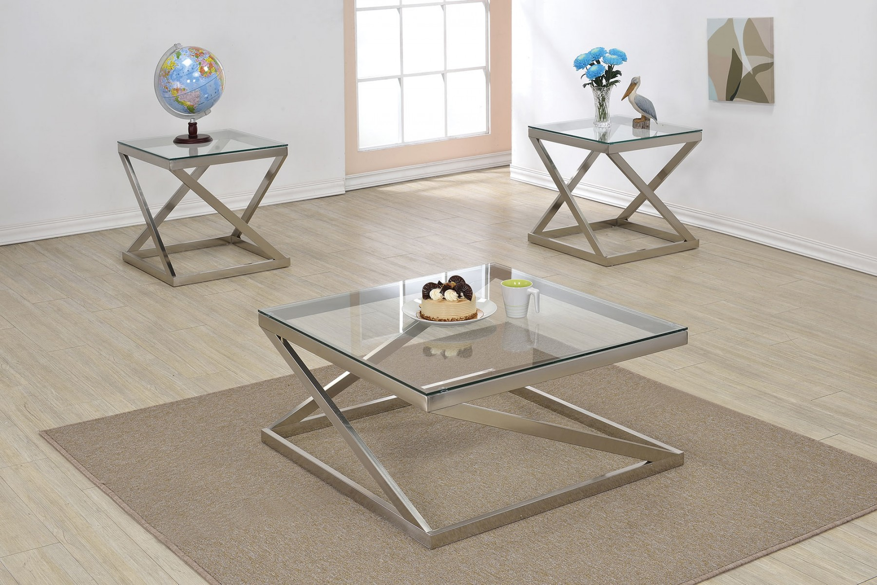 Brushed Nickel Coffee Table Design Ideas