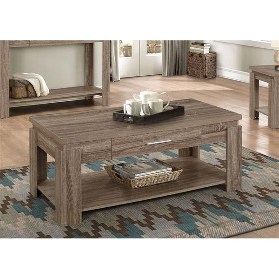 Taupe Wicker Coffee Table: Xanti D-Taupe Coffee Table