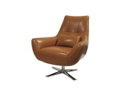 Marvelous Modern Orange Italian Leather Accent Chair Pdpeps Interior Chair Design Pdpepsorg
