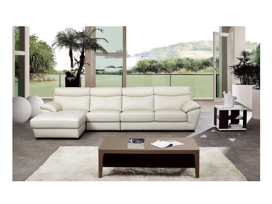 Modern White Italian Leather Sectional Sofa - Shop for Affordable ...