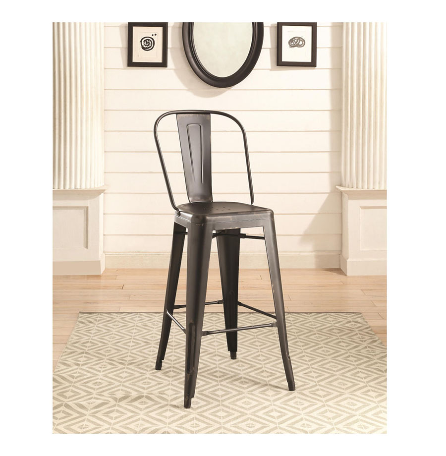 2pcs Contemporary Style Black Bar Stool Shop For Affordable Home
