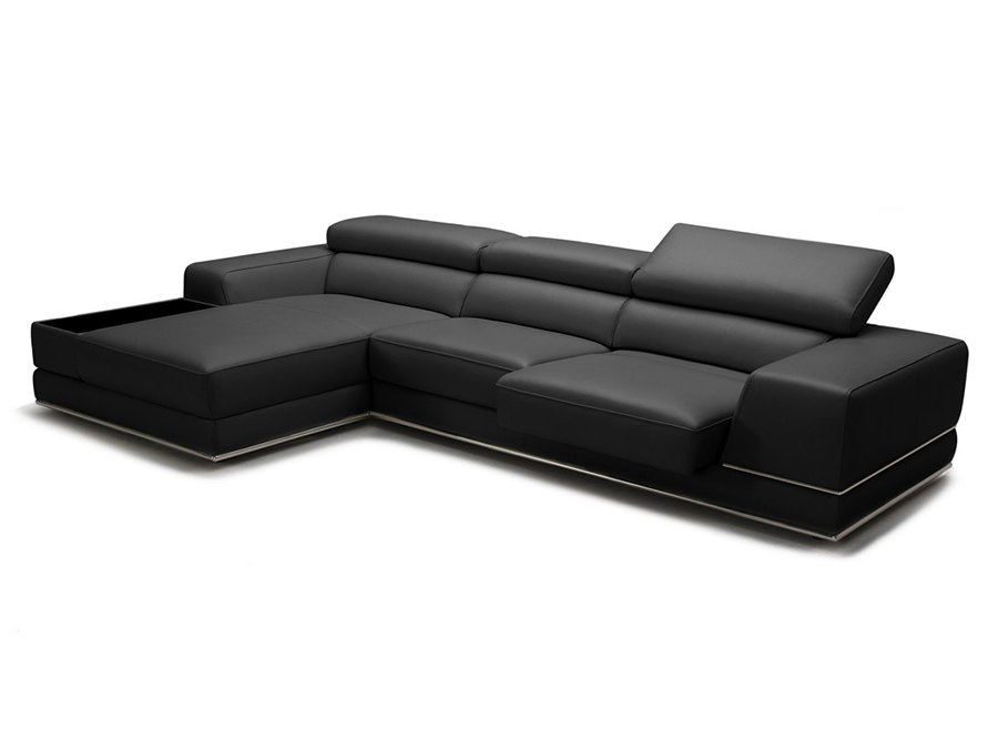 Black Leather Sectional Sofa - Shop For Affordable Home Furniture
