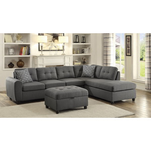 fabric sectional sofas. Fabric Sectional Sofa In Grey Sofas