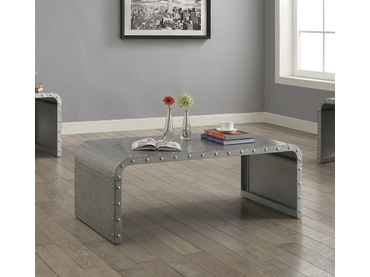 Rustic Style Galvanized Coffee Table