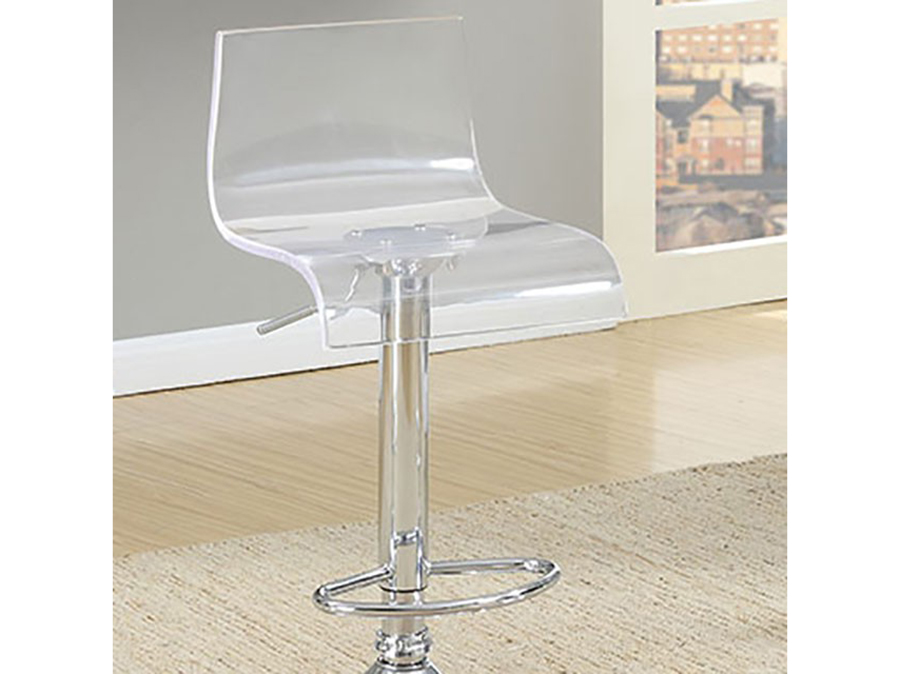 Trixy Contemporary Chrome Finish Acrylic Bar Table