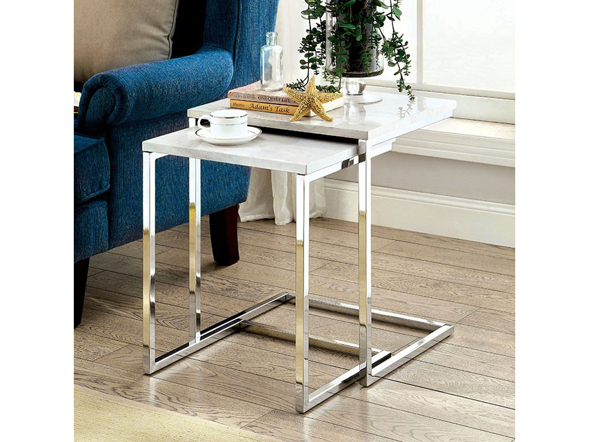 Sue white faux marble nesting table shop for affordable home sue white faux marble nesting table watchthetrailerfo