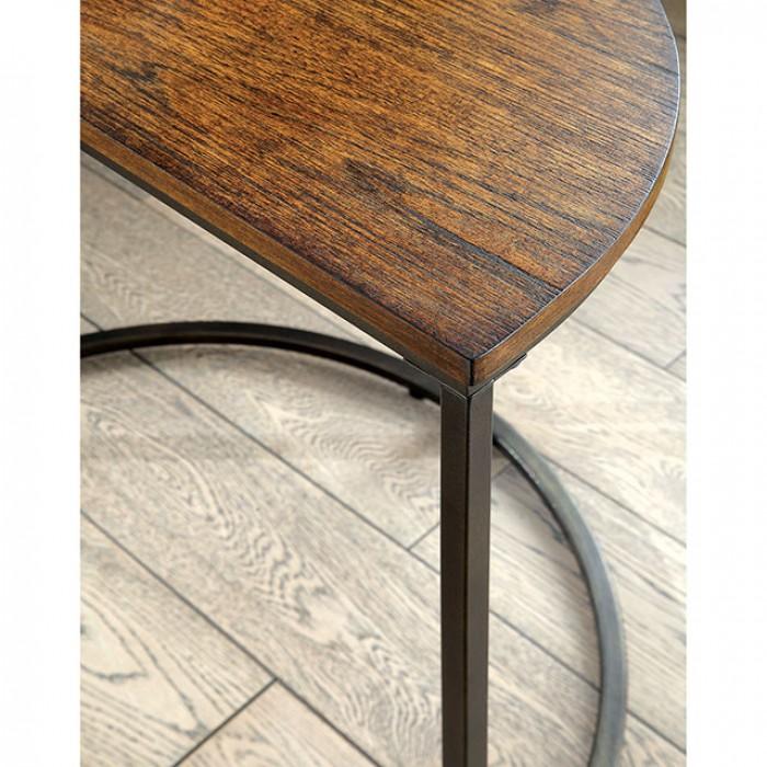 Industrial Medium Oak Nesting Table