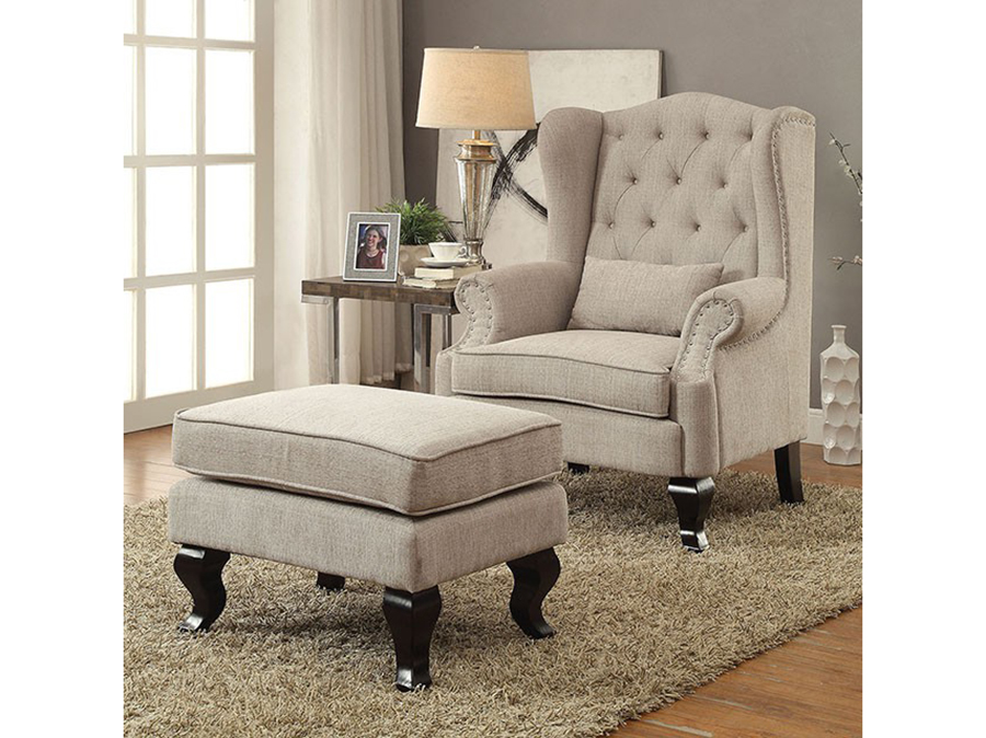 Willow Beige Accent Chair