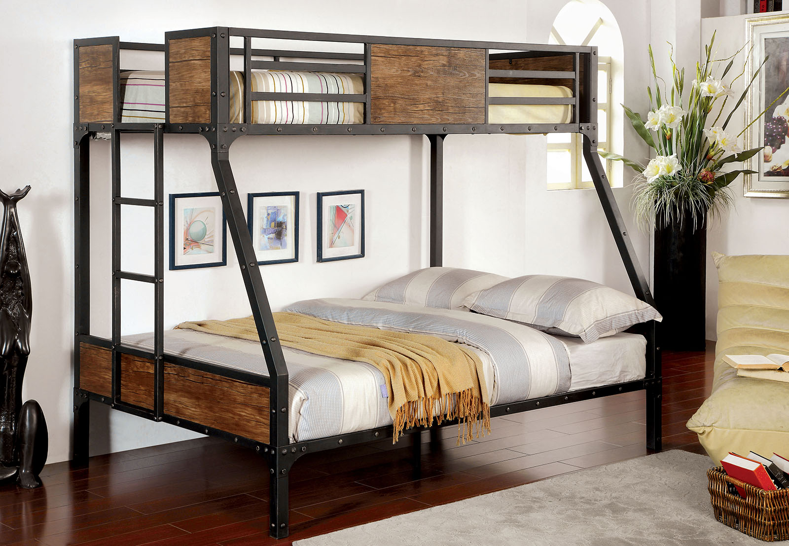 Clapton Twin Full Bunk Bed In Black Shop For Affordable Home