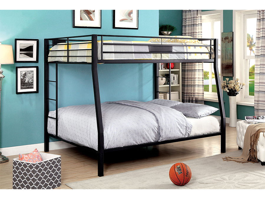 Claren Full/Queen Bunk Bed In Black