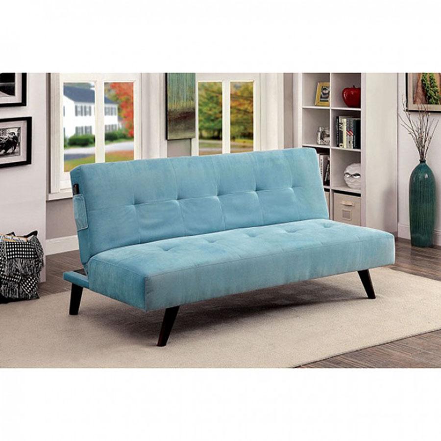 oriana blue flannelette futon sofa oriana blue flannelette futon sofa   shop for affordable home      rh   muuduufurniture
