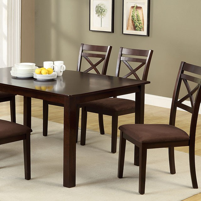Weston II Transitional 7Pcs Espresso Dining Table Set - Shop for ...
