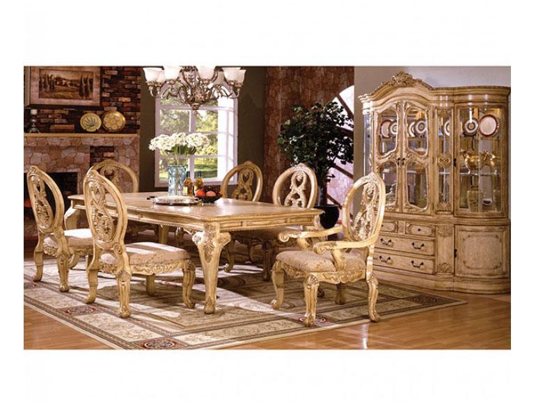 Tuscany Traditional Antique White Finish Dining Table Set - Tuscany Traditional Antique White Finish Dining Table Set - Shop For