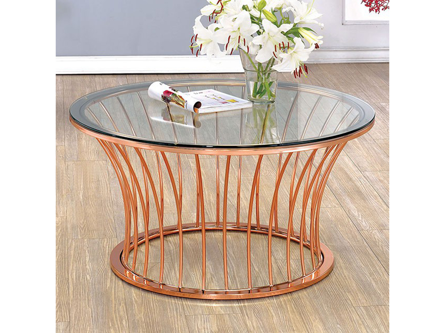 Celise Rose Gold Coffee Table