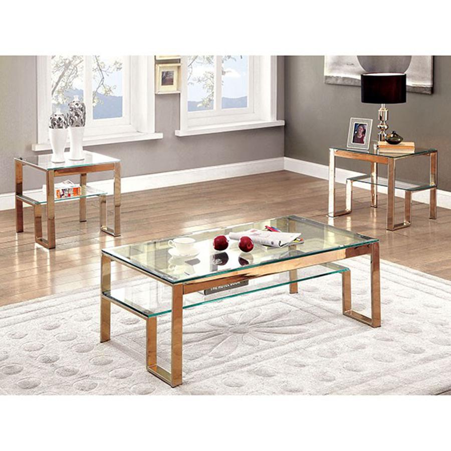 Champagne Mirrored Coffee Table: Nikita Champagne Coffee Table