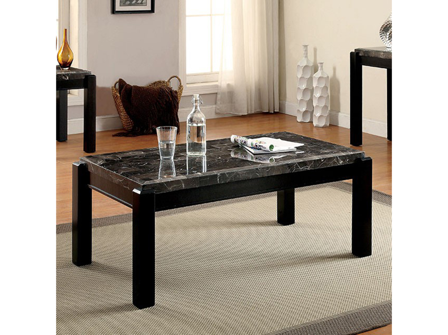 Gladstone Gray Marble Top Coffee Table Set Shop For Affordable - Affordable marble coffee table