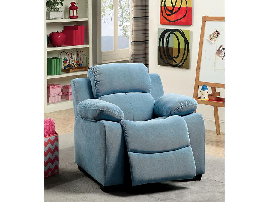 Connie Kids Recliner Chair In Blue