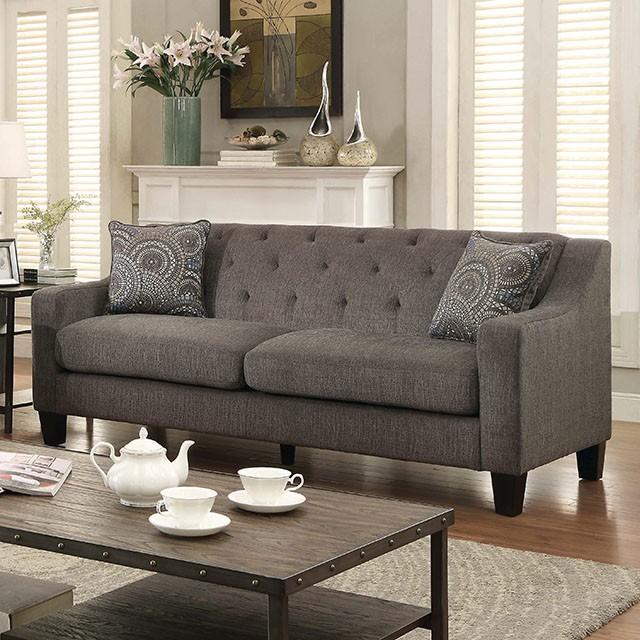 Sofa Contemporary Style marlene contemporary mocha chenille fabric sofa loveseat set