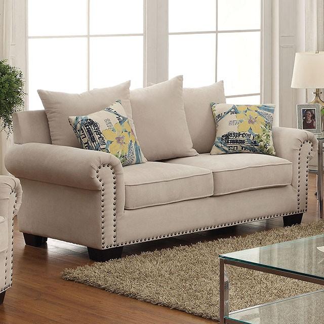 Nice Skyler Ivory Sofa Set