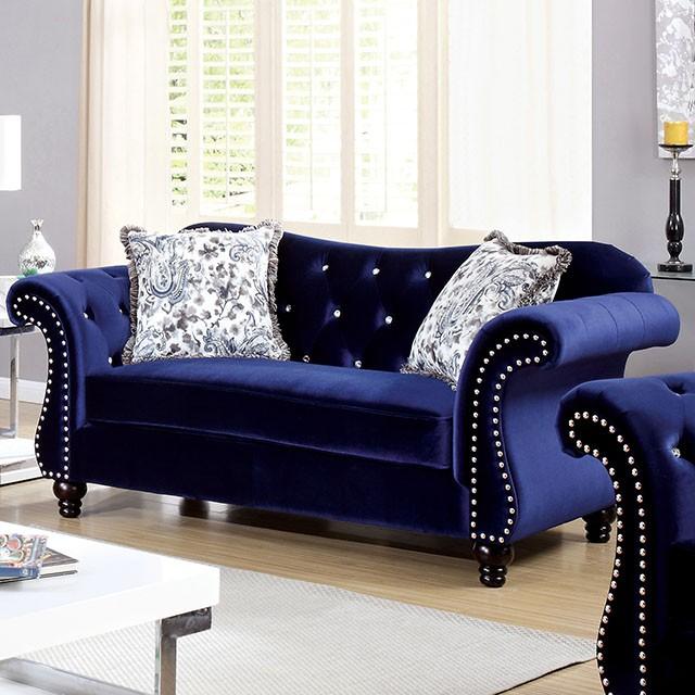 Jolanda Blue Sofa Set
