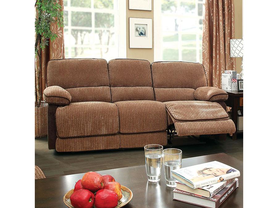 Hazlet Brown & Dark Brown Sofa Set