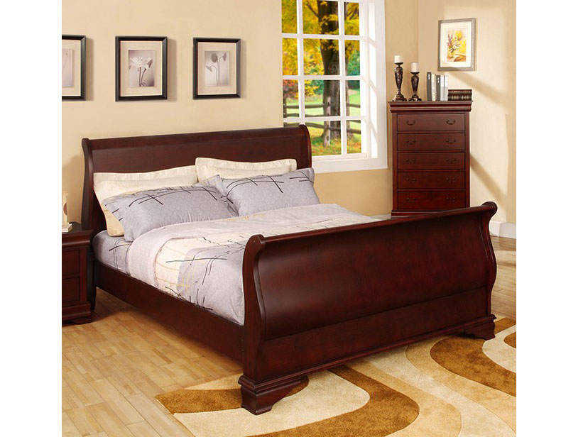 Laurelle Cherry Cal.King Sleigh Bed   Shop for Affordable Home