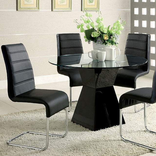 Mauna Tempered Glass Top Round Dining Table Set - Shop for ...