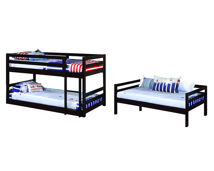 Triple Twin Bunk Bed In Cuccino