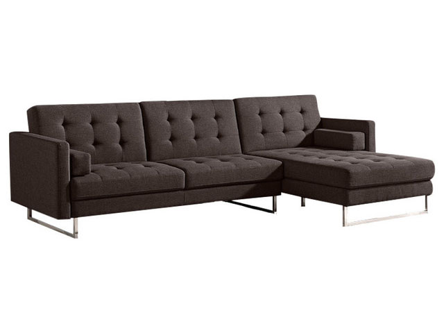 Opus Fabric Tuft Sectional Sofa Convertible Bed Shop For