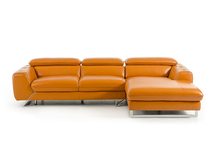 Marcus Orange Sectional Sofa