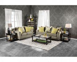Macroom Contemporary Style Gray Fabric 2Pcs Sofa Set