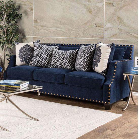 Cornelia Navy Sofa Set